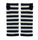 Navy and White Cashmere Wrist Warmers Somerville Scarves