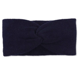 Navy Cashmere Double Layered Knit Headband Somerville Scarves