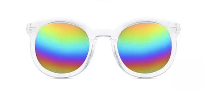 Rainbow Mirrored Wayfarer Sunglasses Sunglasses TLM Edit