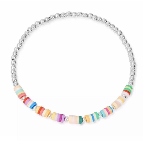Silver Rainbow Friendship Bracelet TLM Edit