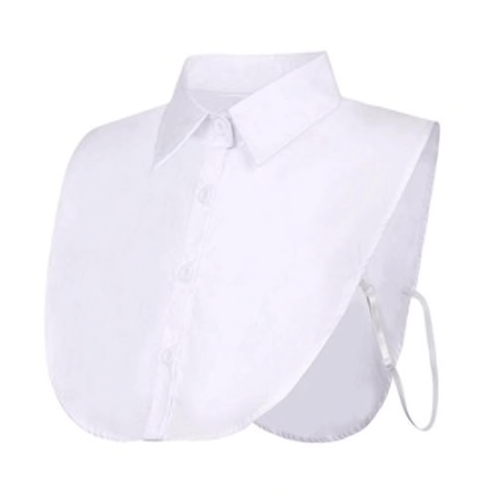 White Classic Shirt Mock Collar Collar TLM Edit