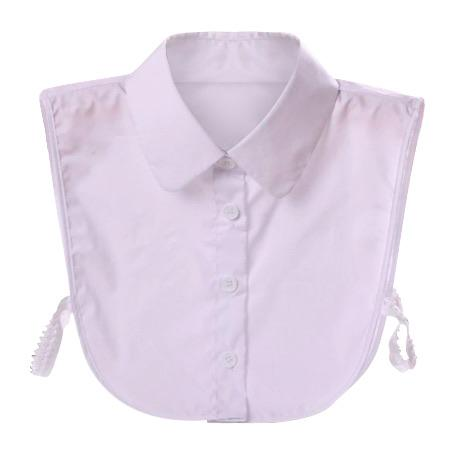 White Peter Pan Shirt Mock Collar Collar TLM Edit