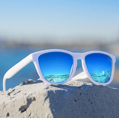 White Polarised Wayfarer Sunglasses Sunglasses TLM Edit