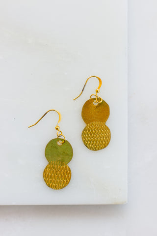 Girma Brass Silver Bead Earrings