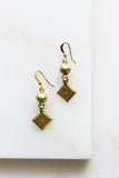 Diamond Dot Brass Earrings