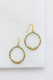 Tenta Brass Hoop Earrings