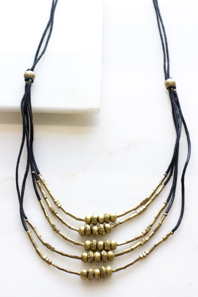 Adet Brass Necklace