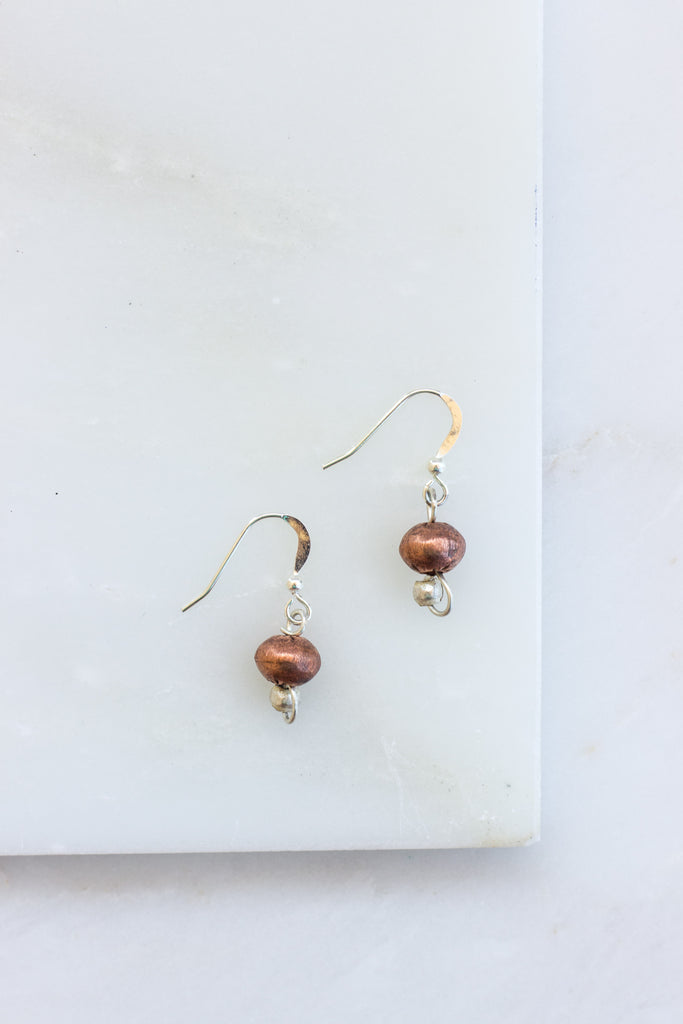 Single Copper Earrings