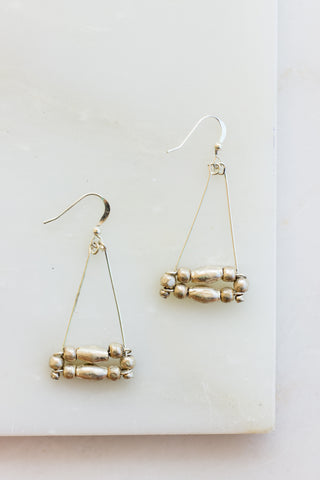 Tenta Silver Hoop Earrings