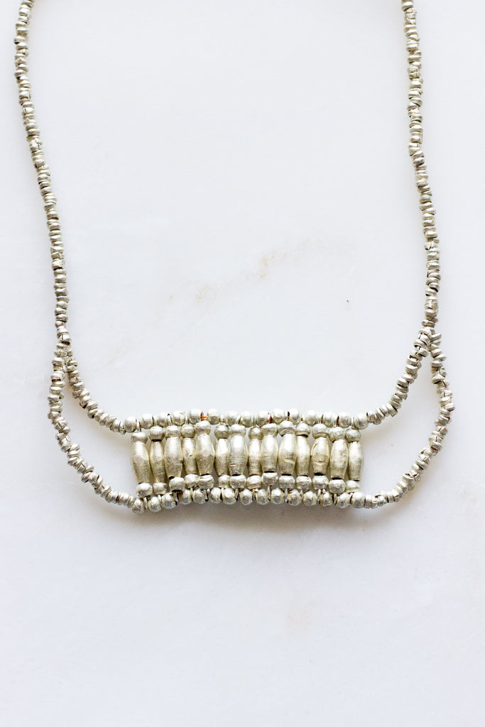 Bib Silver Necklace
