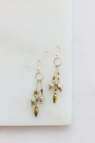 Isabela Brass Stick Earrings