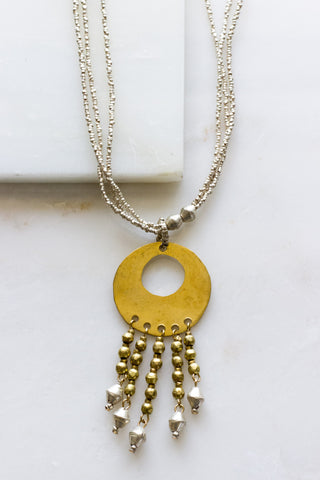 Aklesia Single Strand Brass Necklace