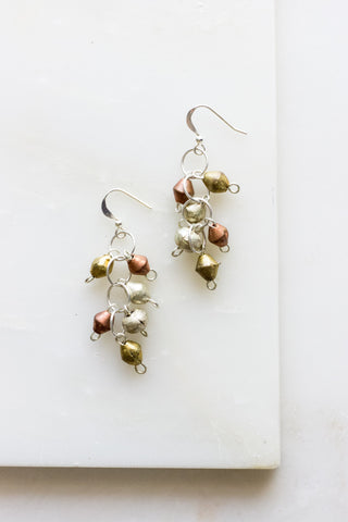 Adet Brass Dangle Earrings