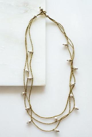 Tenta Brass Necklace