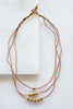 3 Strand Brass Bead + Copper Necklace