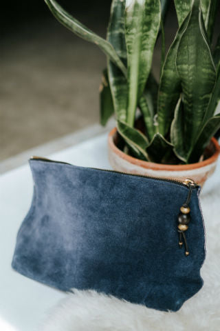 Suede Cosmetic Pouch