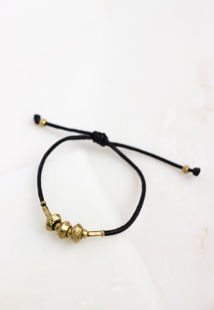 Black Cord Adjustable Bracelet