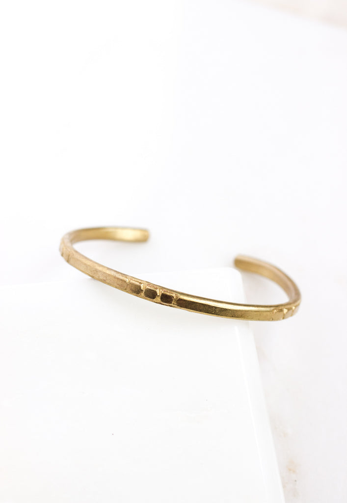 W- Brass Traditional Cuff