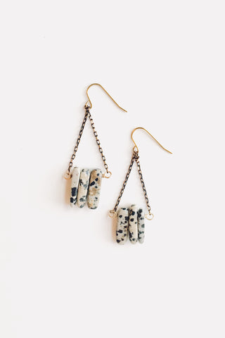 Gray Gadisay Leather Earrings