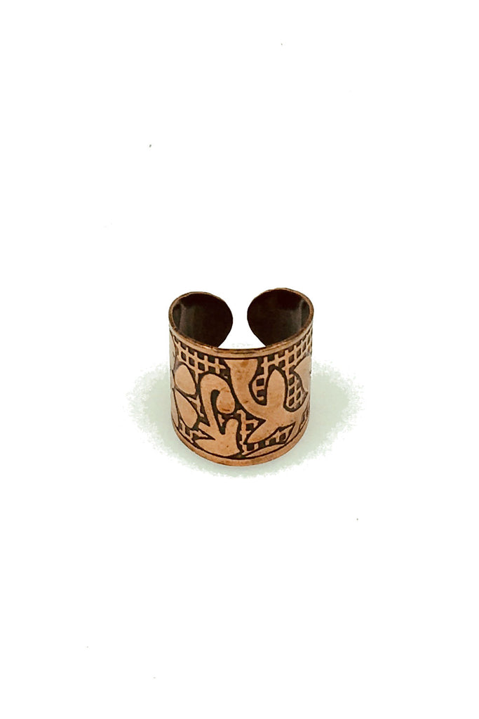 W- Copper Finger Cuff