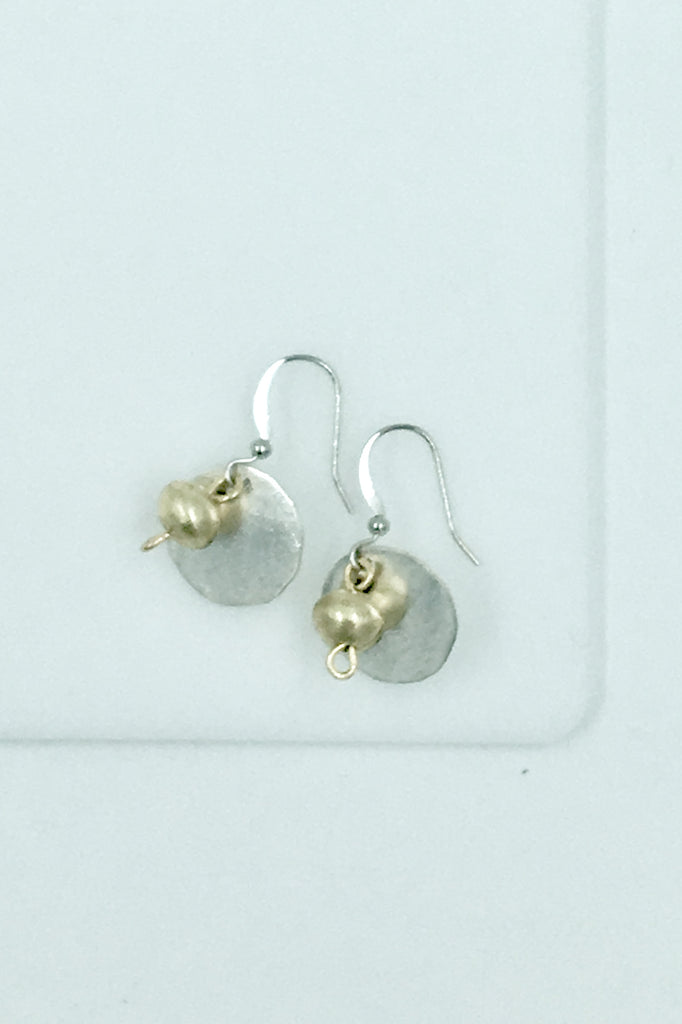 Girma Silver Disk Earrings