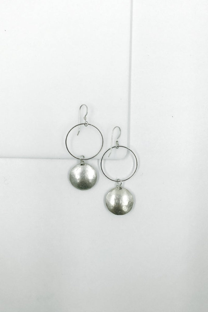 Gelila Silver Disk Earrings
