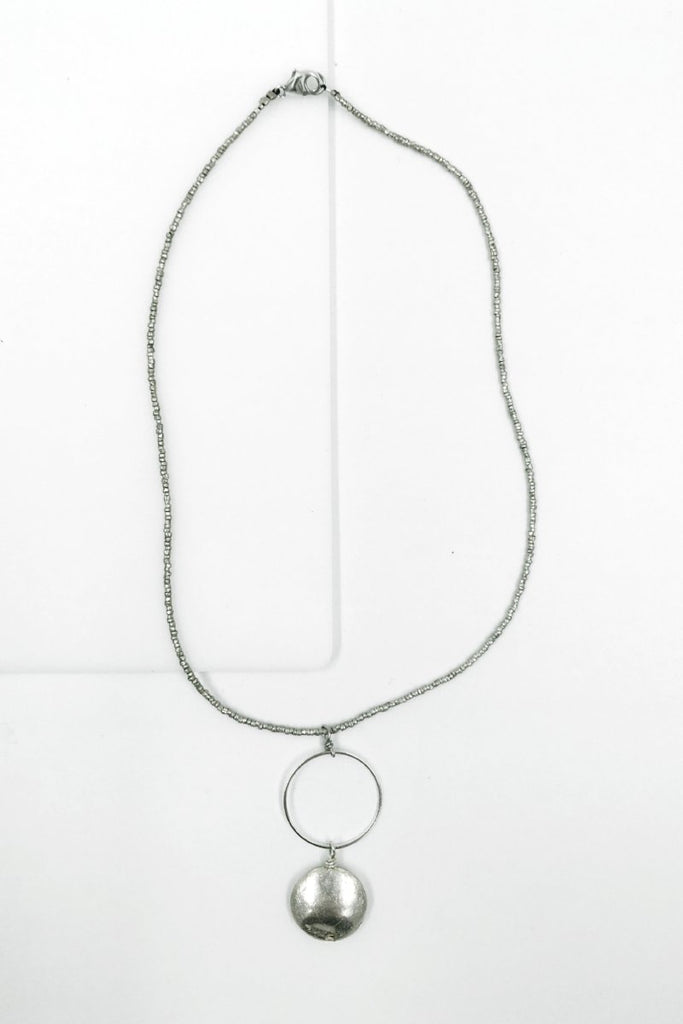 Gelila Silver Disk Necklace