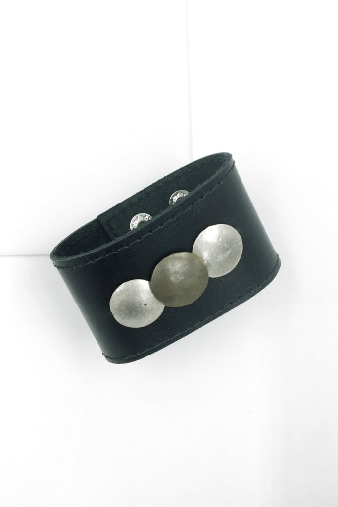 Black Yeholashet Leather Cuff