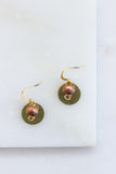 Girma Brass Copper Bead Earrings