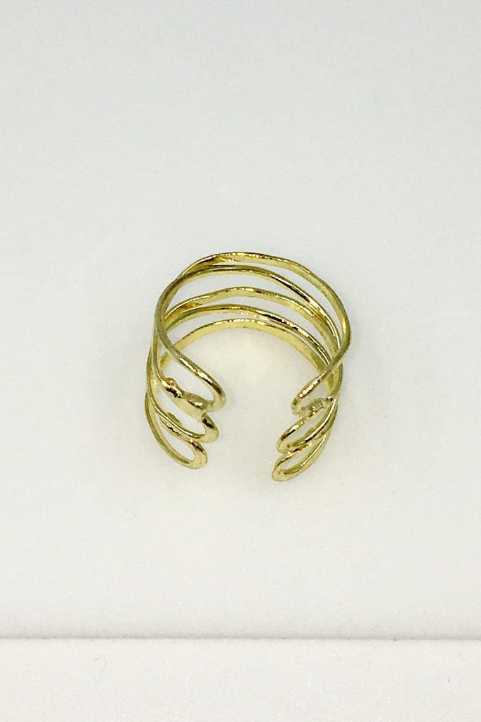 Gold Wind and Water Ring