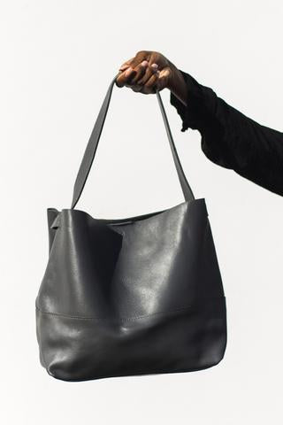 Gray Bucket Bag
