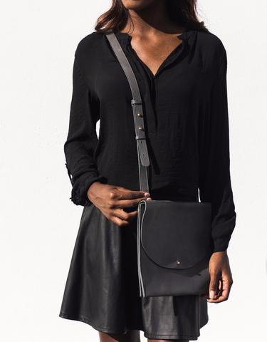 Black Large Crossbody