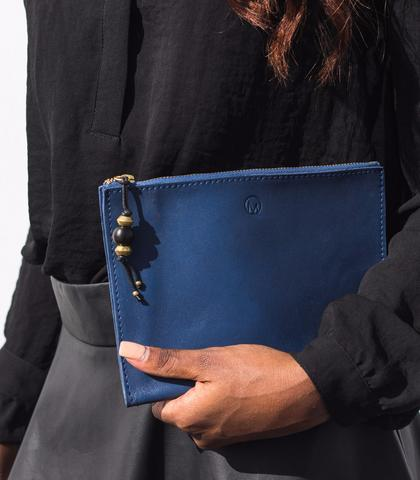 Blue Slim Clutch