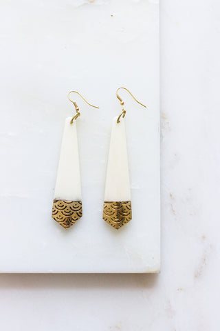 Falling Leaves Earrings Gold