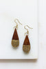 Earth and Fire Teardrop Earrings