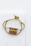 Brass + Copper Bib Bracelet