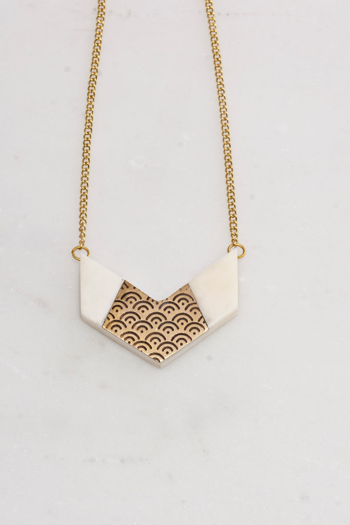 Anika Chevron Necklace