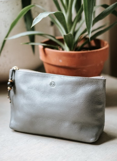 Gray Cosmetic Pouch