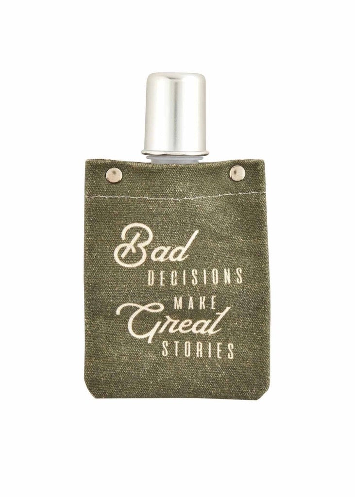 Bad Decisions Canvas Flask