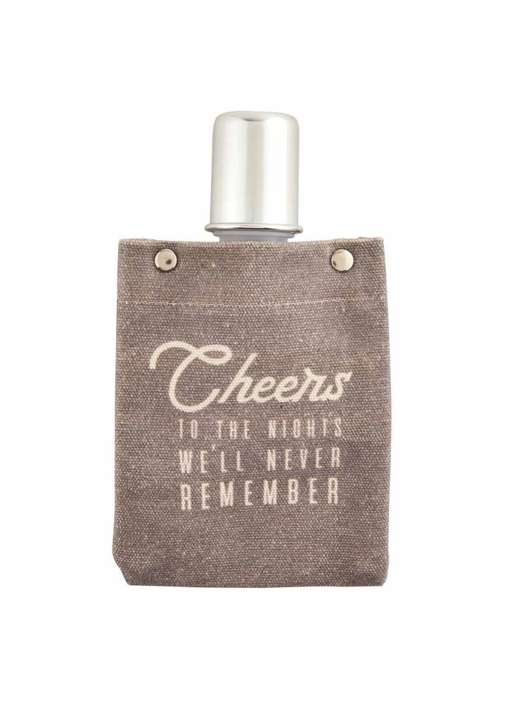 Cheers Canvas Flask