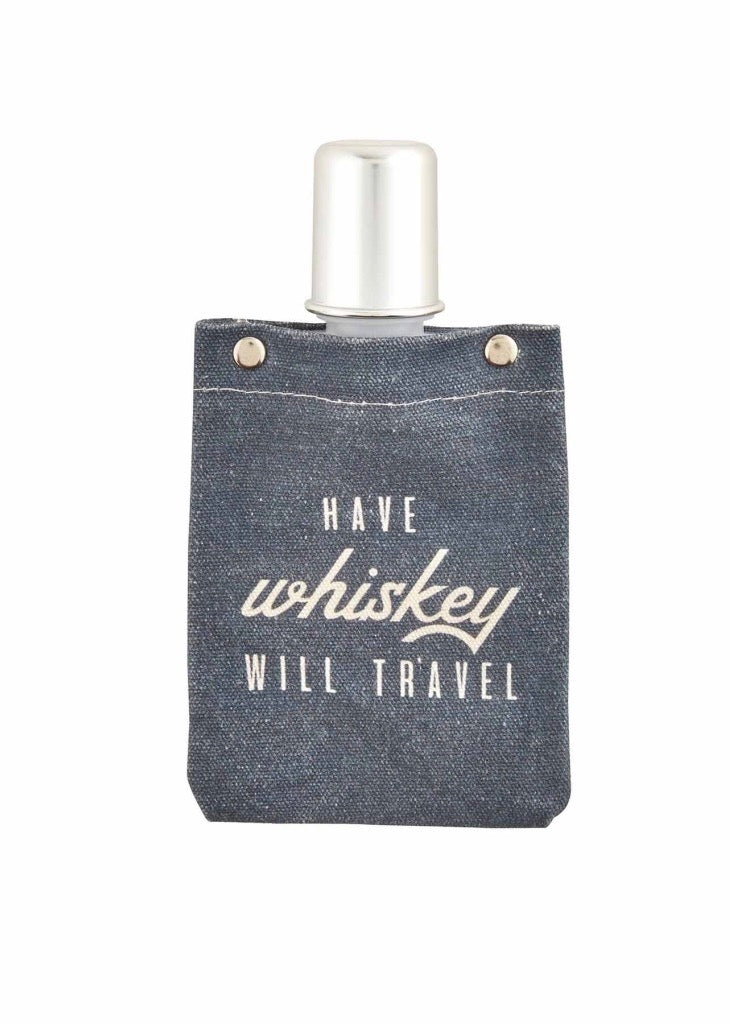 Whiskey Canvas Flask