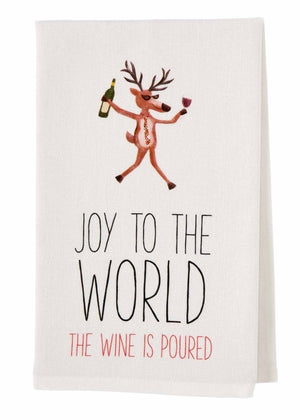 Joy To The World Drinking Towel
