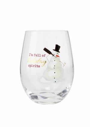 Snowman Funny Wine Glass