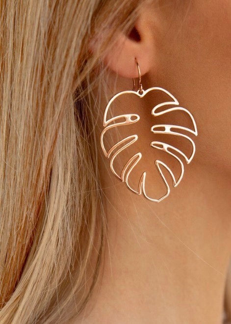 Rose Gold Leaf Earring