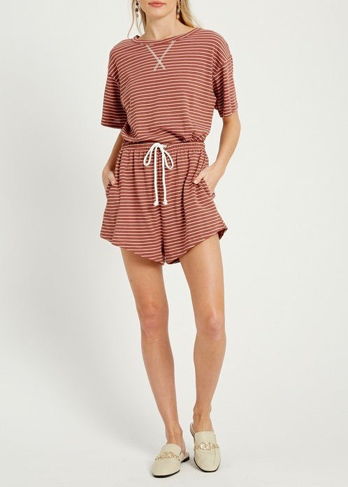 Ashlyn Stripe Short