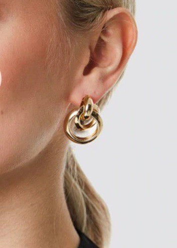 Round Dangle Earring