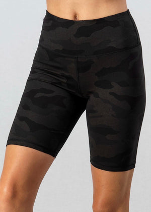 Metallic Camo Bike Short