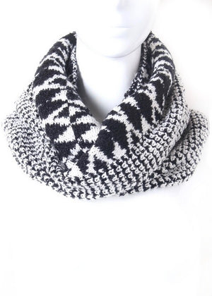 Knit Diamond Infinity Scarf