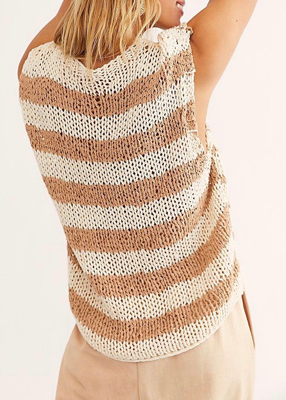 Wave After Wave Sweater Tank
