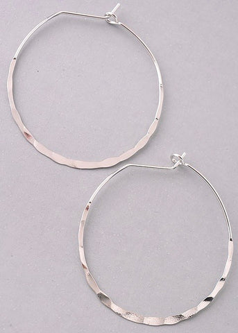 Marion Hammered Hoop Earrings